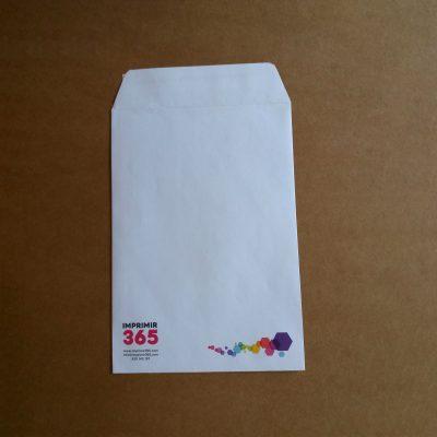 Bolsa papel 162x229 mm autoadhesiva impresa a color